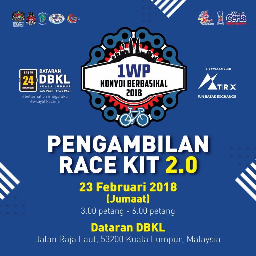 Konvoi Berbasikal 1WP 2018 Racekit 2.0.